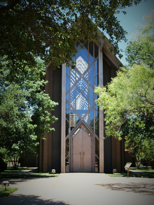 The entrance to Marty Leonard Chapel